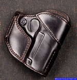 M-9 Leather Gun Holster Outside Waistband