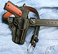 M-5 Aspis leather gun holster and belt