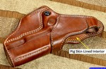 This M-1 Hoplon holster is fitted with pig-skin lining.