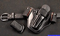 M-11 Concealed carry gun holster with mag pouch and full shark dress belt.