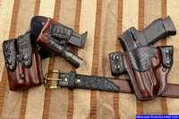 Custom holsters in crocodile leather